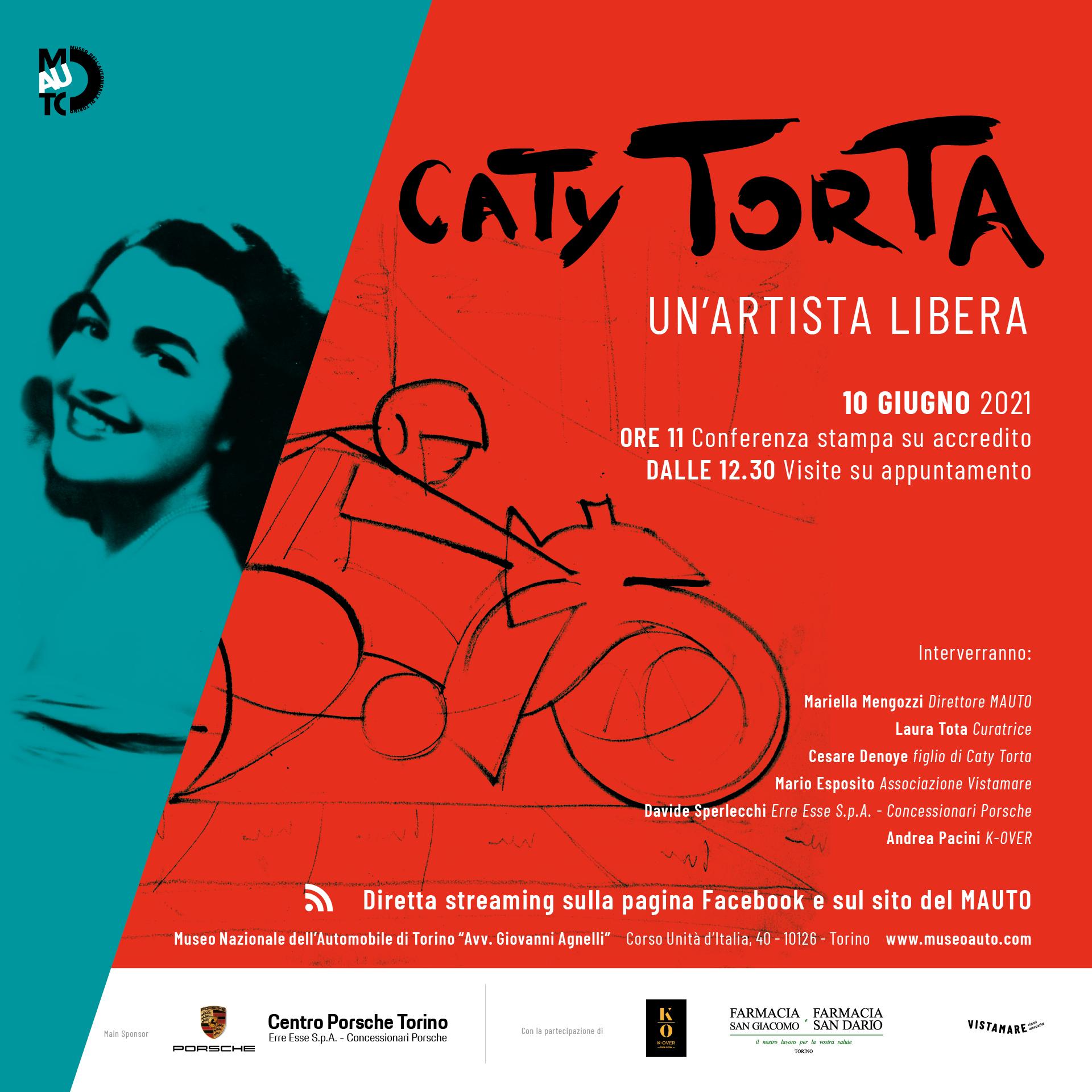 CATY TORTA. UN'ARTISTA LIBERA. Presentazione in diretta streaming.